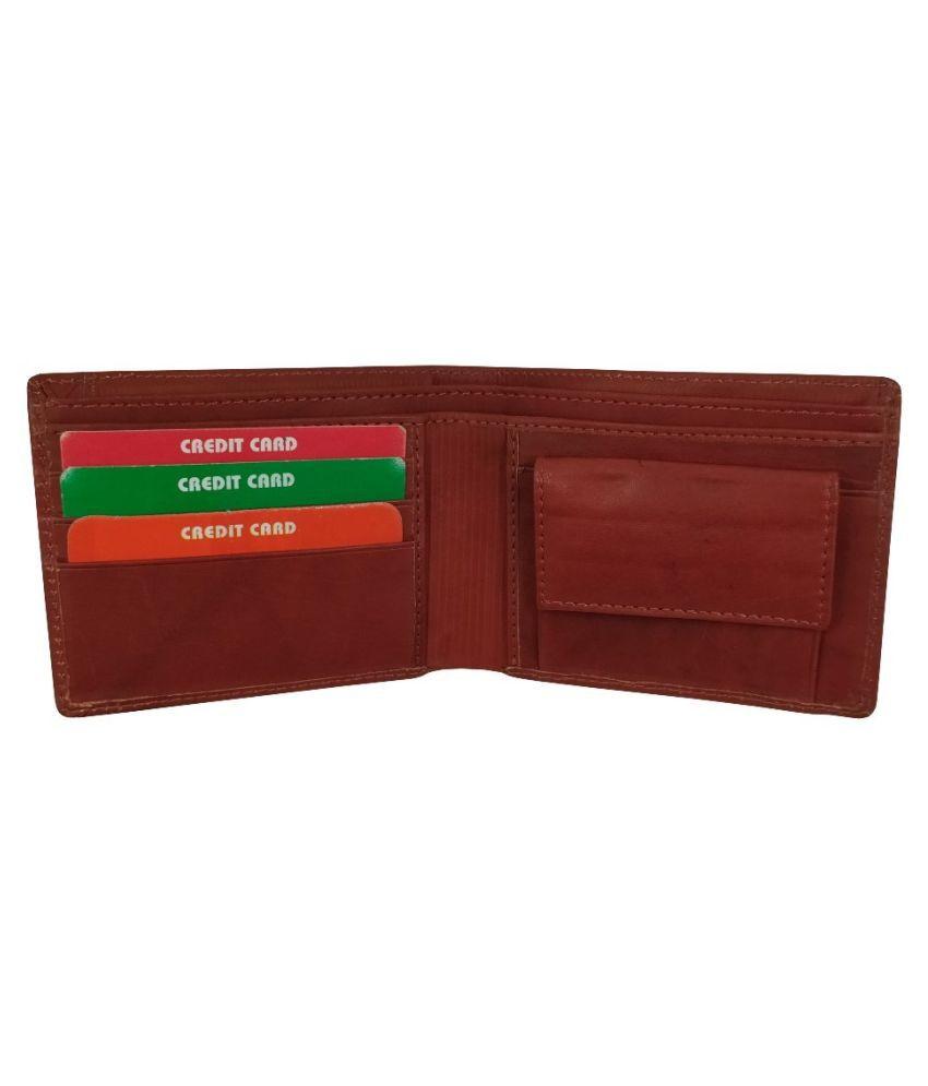 EBEZA Leather Brown Formal Regular Wallet