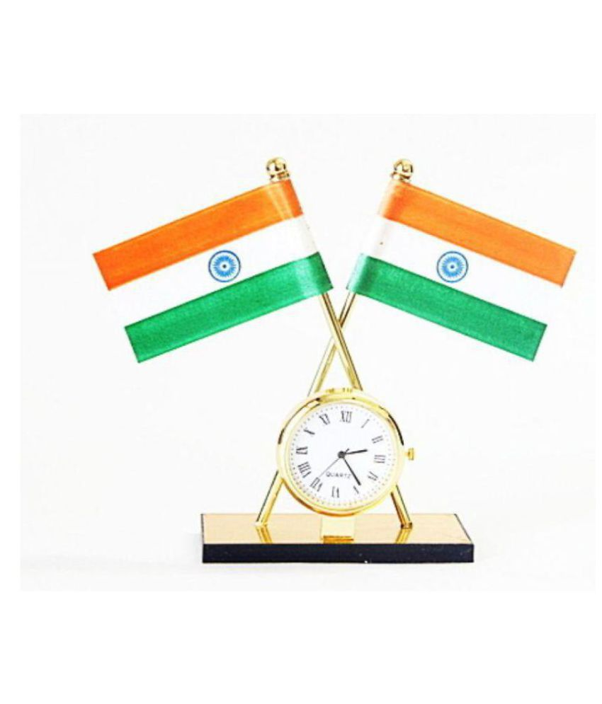 Laps of Luxury Flags with Clock White