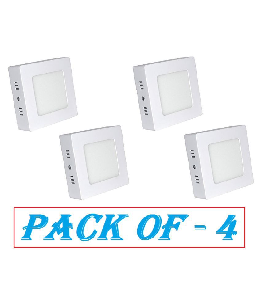 D'Mak Surface 6W Square Ceiling Light 10.5 cms. - Pack of 4