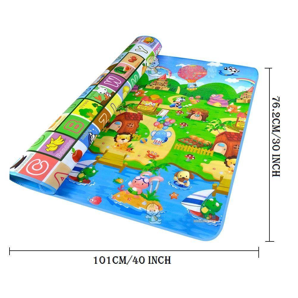 IRIS Carpet Kids Baby Double Sided Rug Play/Crawling mat, Non-Toxic