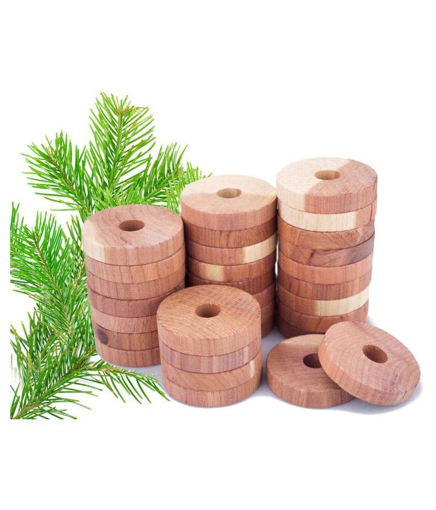 Natural Cedar Wood Rings Repellent ( pack of 12 )