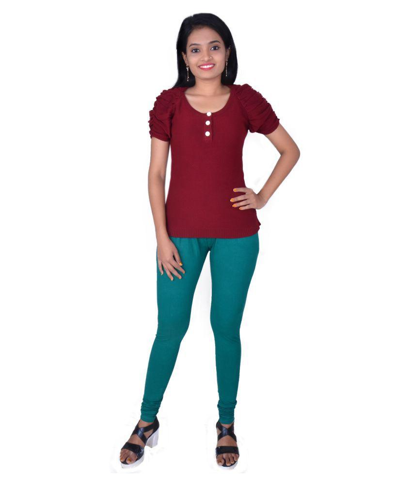 Polestar Cotton Lycra Jeggings - Green