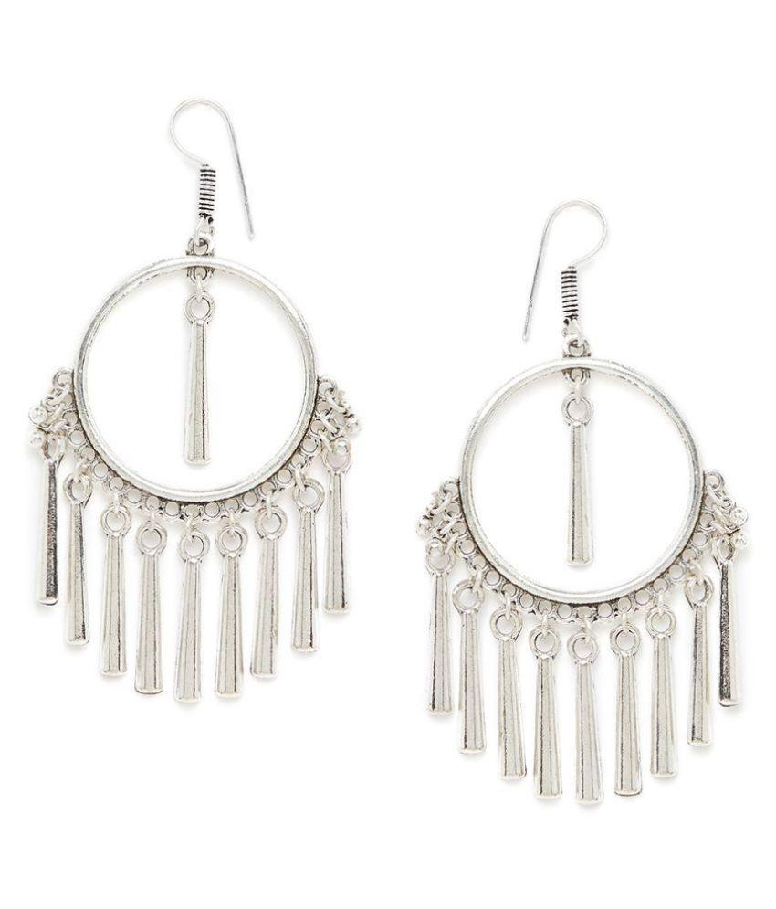 ZeroKaata Circular Oxidized Silver Earrings