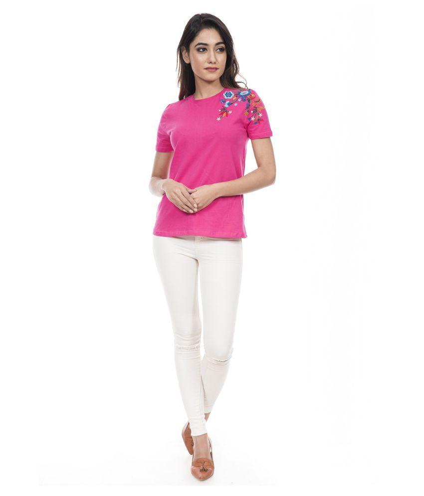 Amadore Viscose Pink T-Shirts