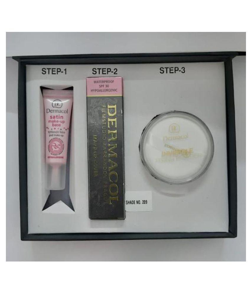 DERMACOL Cream Foundation Fair Pack of 3 30 g
