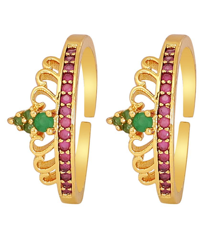 Muchmore Beautiful Gold Plated Casual Toe Ring For Women