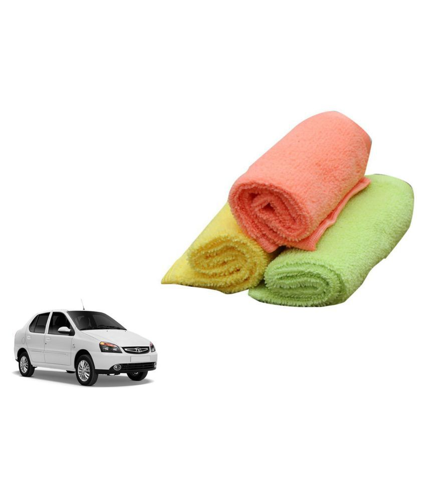 MADMEX Microfiber Cloth for Car Cleaning and Detailing, Dual Sided, Extra Thick Plush Microfiber Towel Lint-Free Combo Of 3