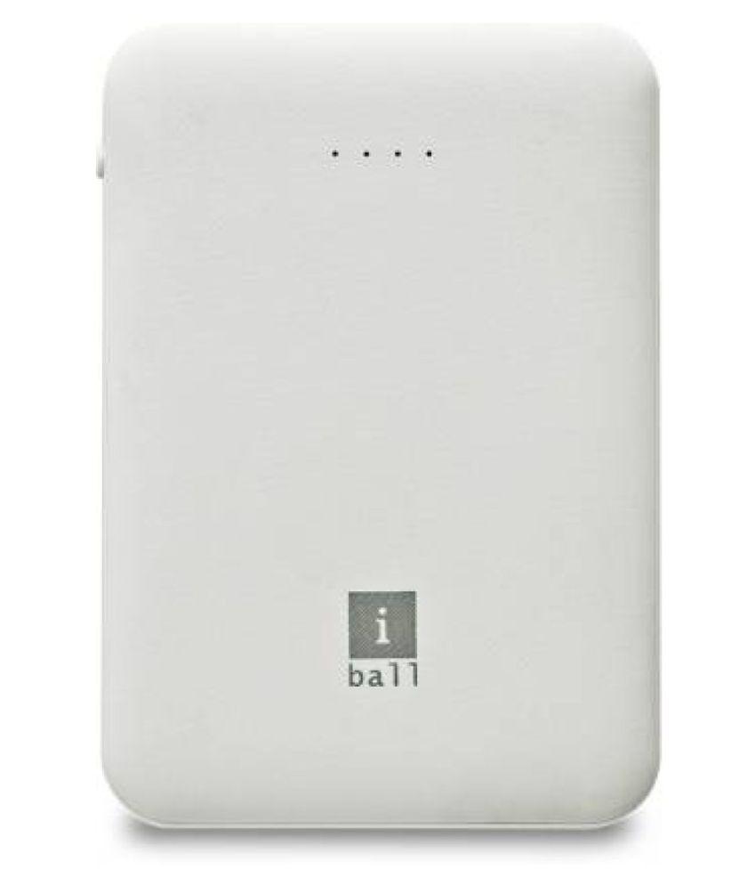 iBall IB-5000LPS 5000 -mAh Li-Polymer Power Bank White
