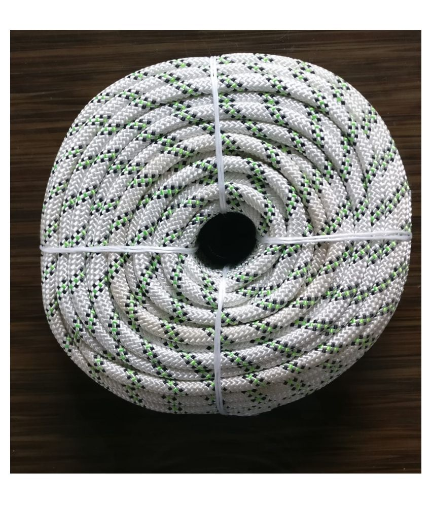 Sahas 10.5mm (200m) White Nylon Climbing Rope