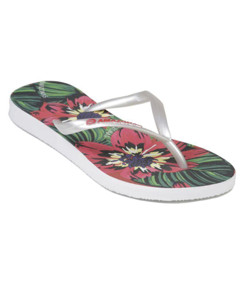 AMAZONAS White Slippers