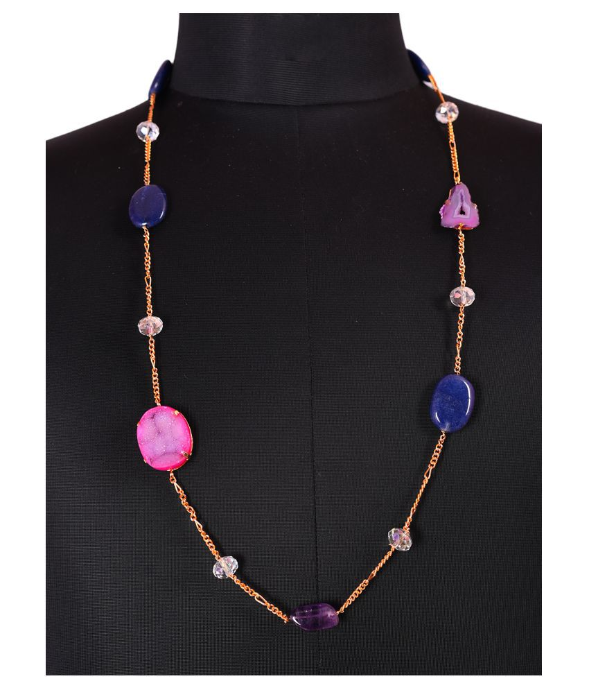 Mehak Gupta Copper Multicolour Designer Long Chain for Girls/Women's