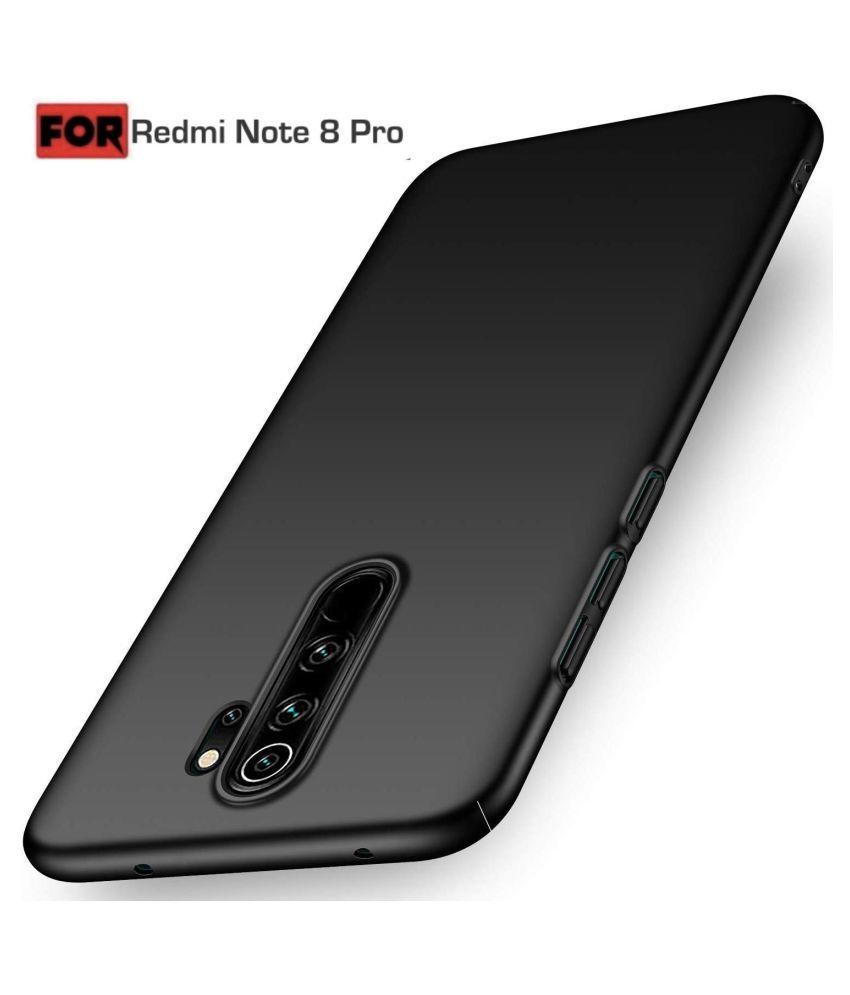 Xiaomi Redmi Note 8 Pro Shock Proof Case Vikefon   Black 4 Cut Back Case Cover