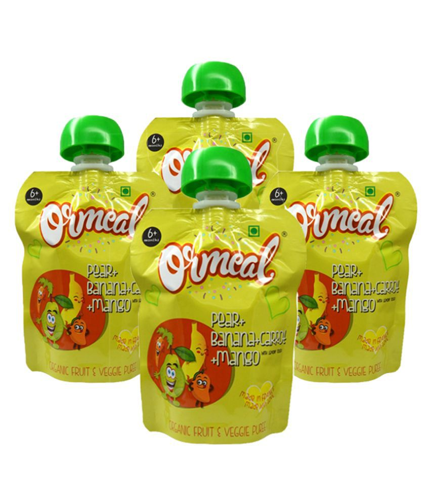 Ormeal Organic Pear + Banana + Carrot + Mango Vegetables for 6 Months + ( 360 gm )
