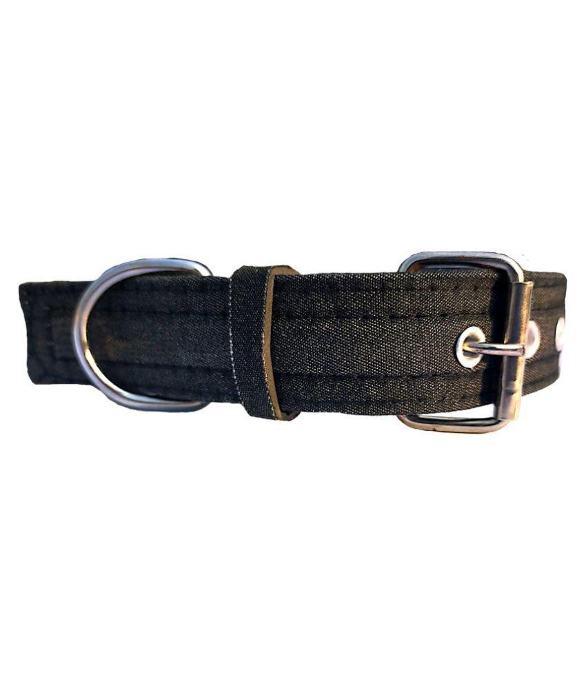 Forever99 Pet Shop Fabric Dog Collar Neck Belt for Medium black