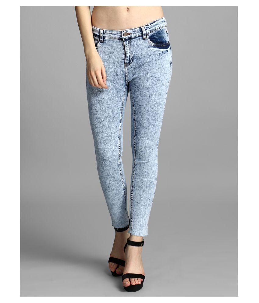 kotty Cotton Lycra Jeans - Blue