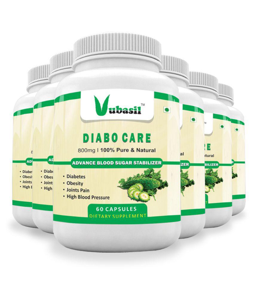 VUBASIL Best Herbal Diabetes Care Sugar Control Capsule 360 no.s Pack Of 6