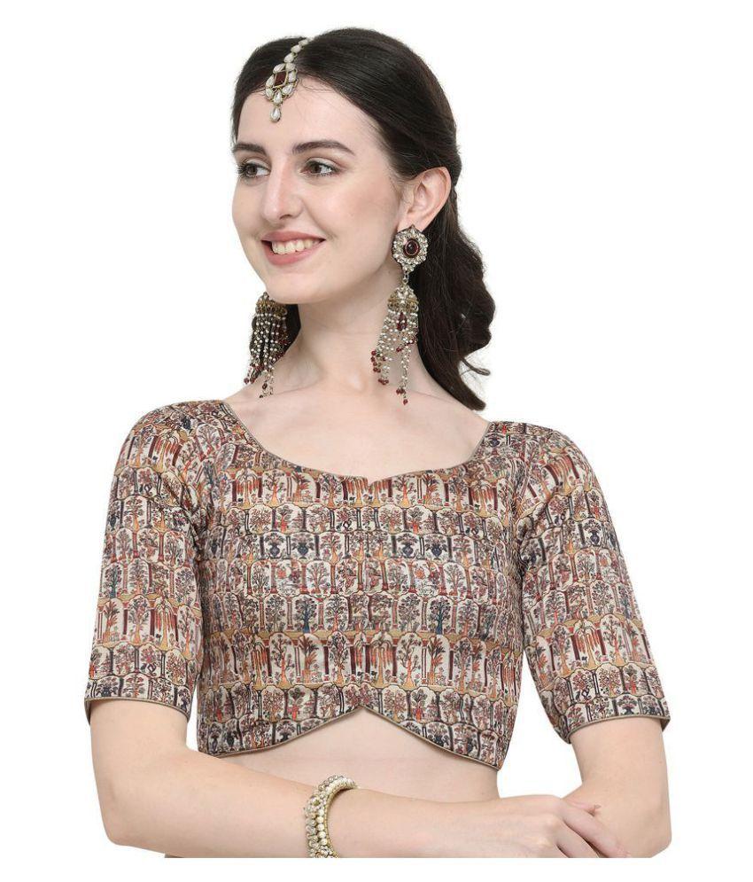 Janasya Multicoloured Silk Readymade without Pad Blouse
