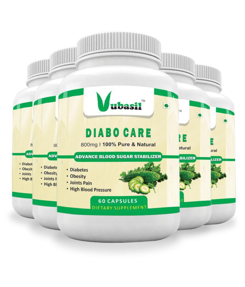 VUBASIL Best Herbal Diabetes Care Sugar Control Capsule 300 no.s Pack Of 5