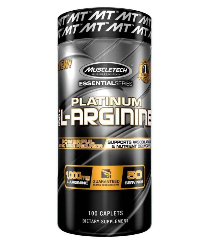Muscletech Essential Series Platinum L-arginine Energy Drink for All 100 no.s