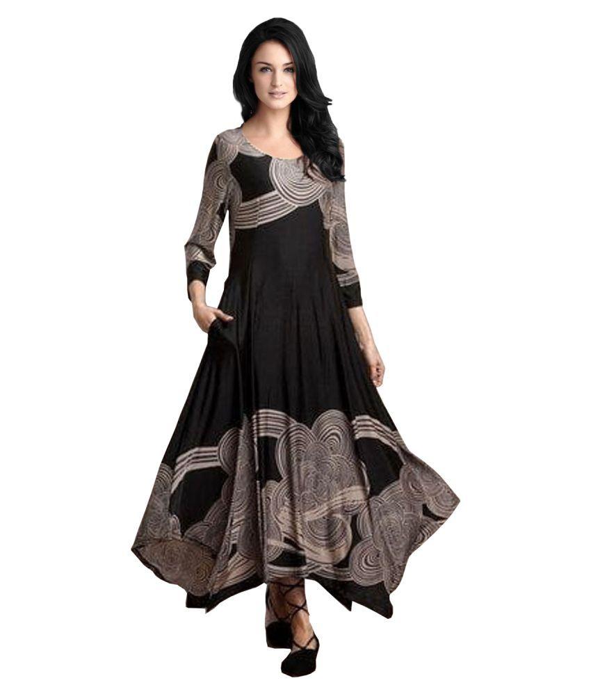Ritsila Cotton Black A- line Dress