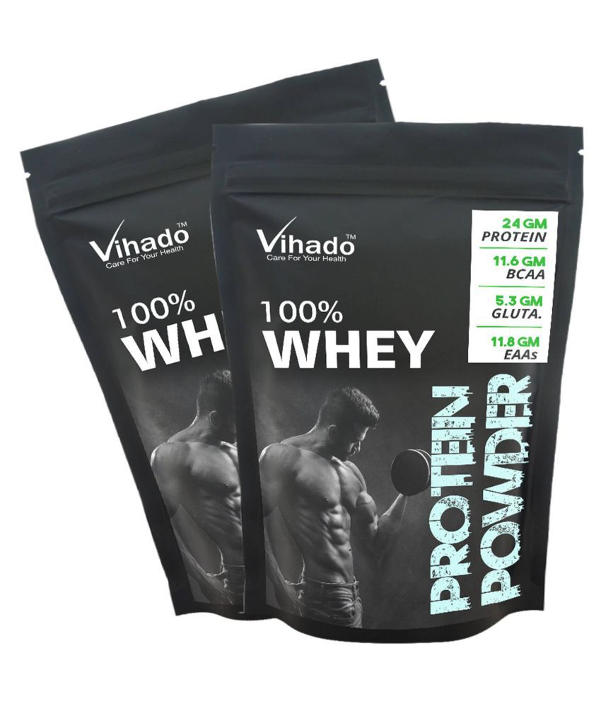 Vihado Nutrition Whey Protein Concentrate 80% Unflavoured 50 gm Pack of 2