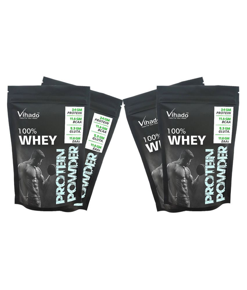 Vihado Nutrition Whey Protein Powder Concentrate 80% 50 gm Pack of 4