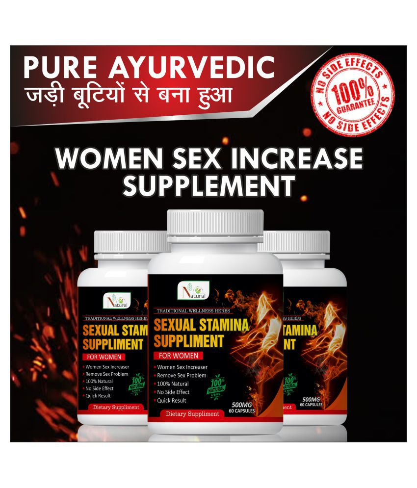 Natural Sexual health suppliment for women Capsule 180 no.s Pack of 3