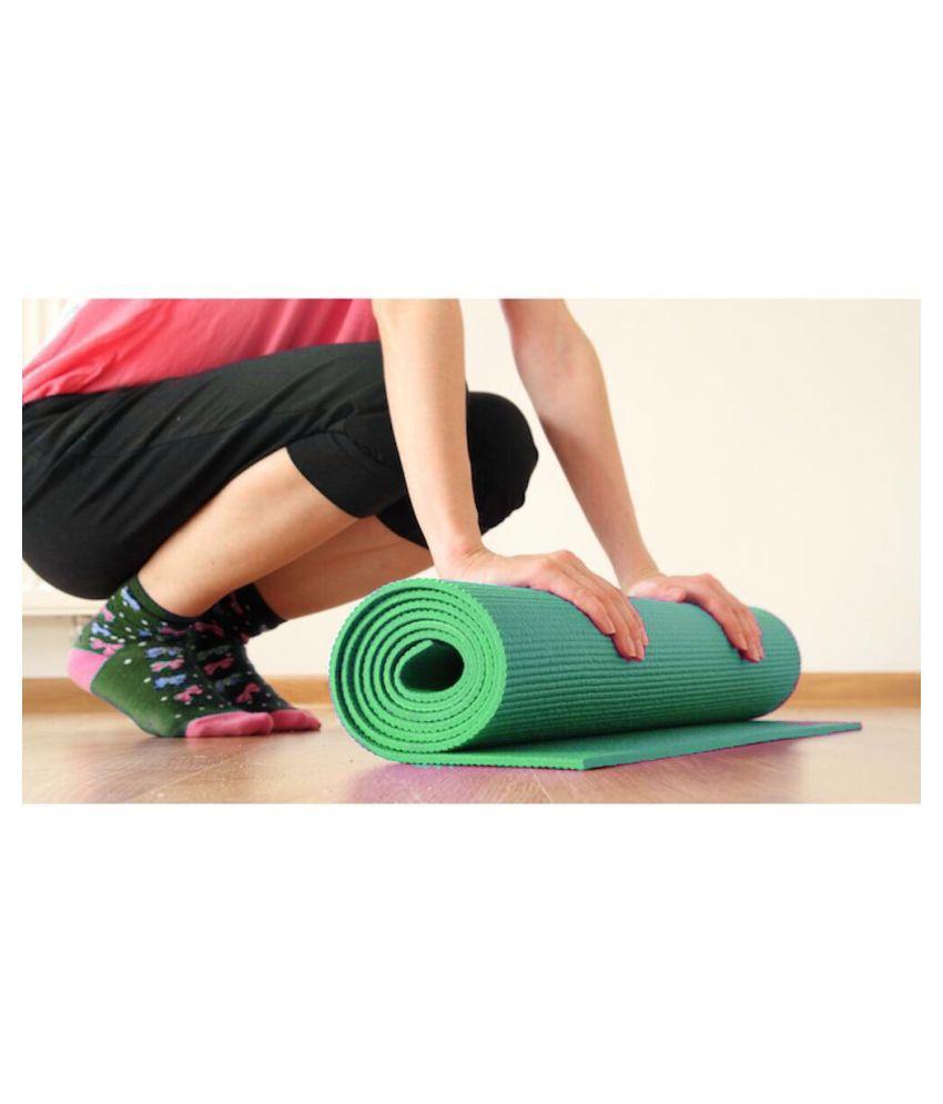 Bluebird  fashion Yoga Mats For Gym & Exercise (Green)