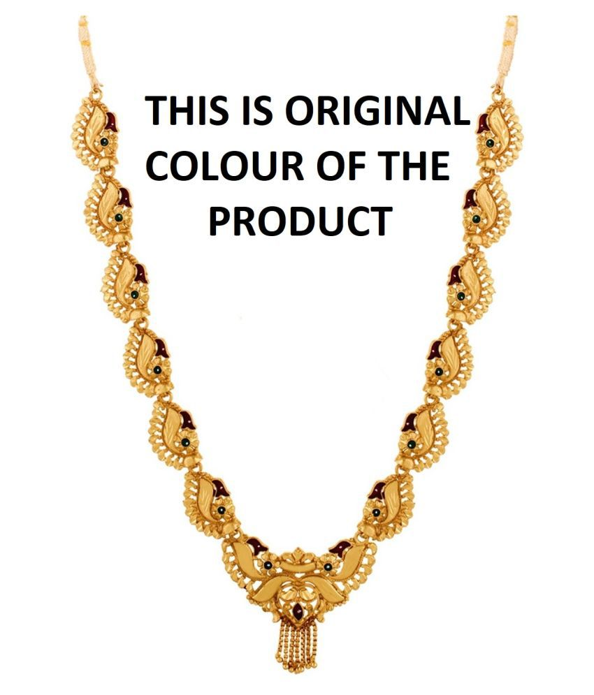 GoldNera Alloy Golden Traditional Necklace Choker