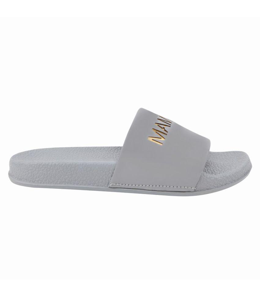 MAMZER Gray Slippers
