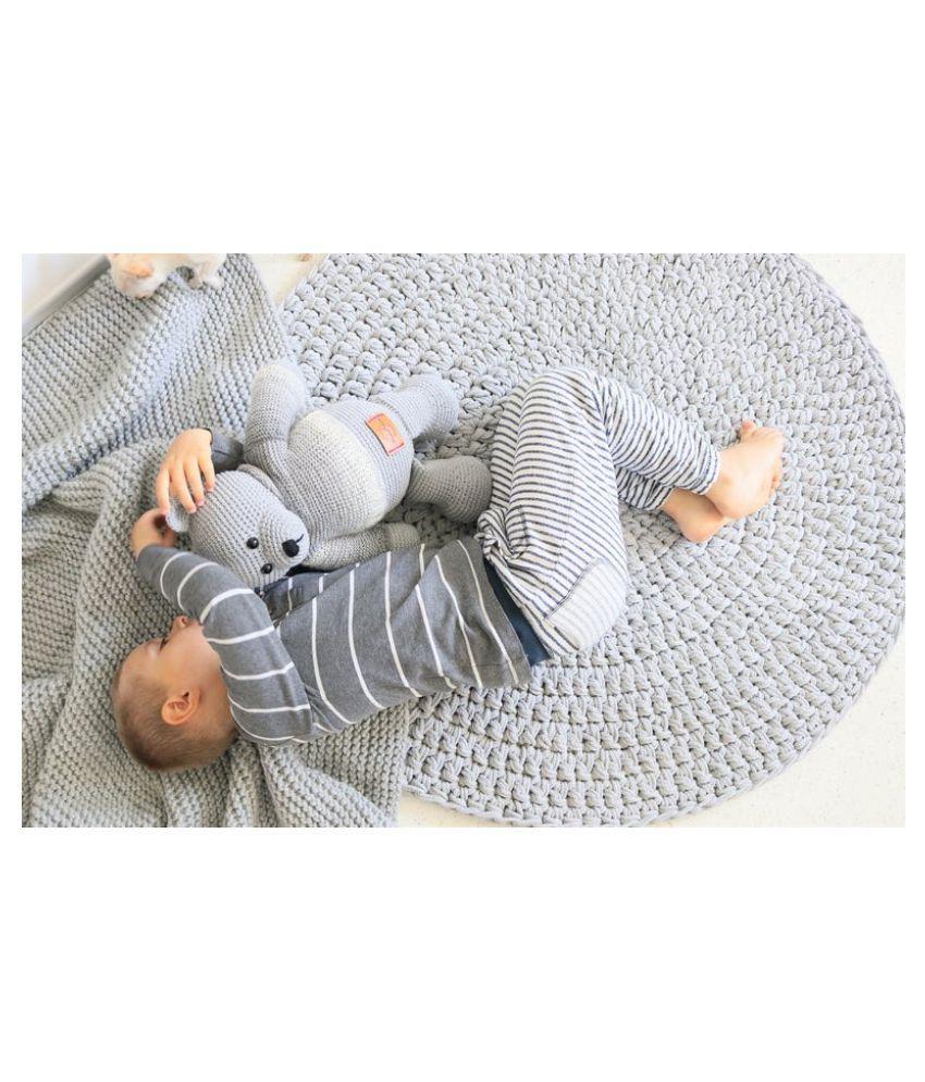 PRINT SHOPPIE Gray Cotton Carpet Natural Other Sizes Ft