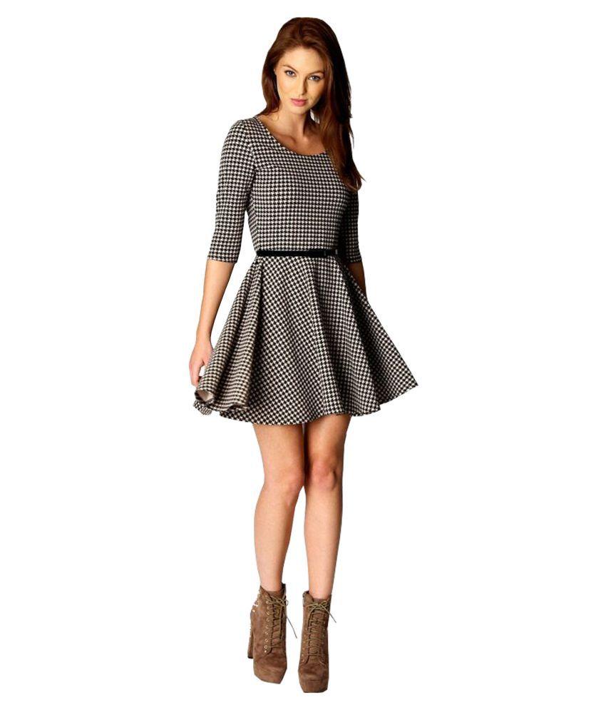 Ritsila Cotton Multi Color A- line Dress