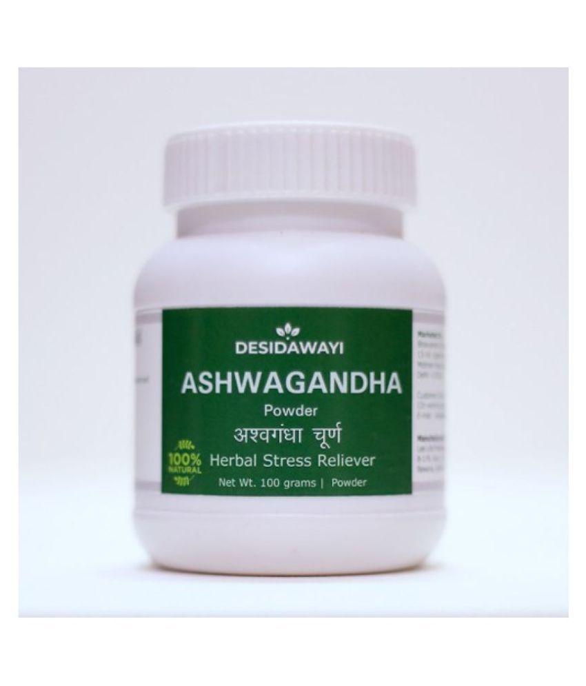 Desidawayi Ashwgandha Powder 100 gm Pack Of 5