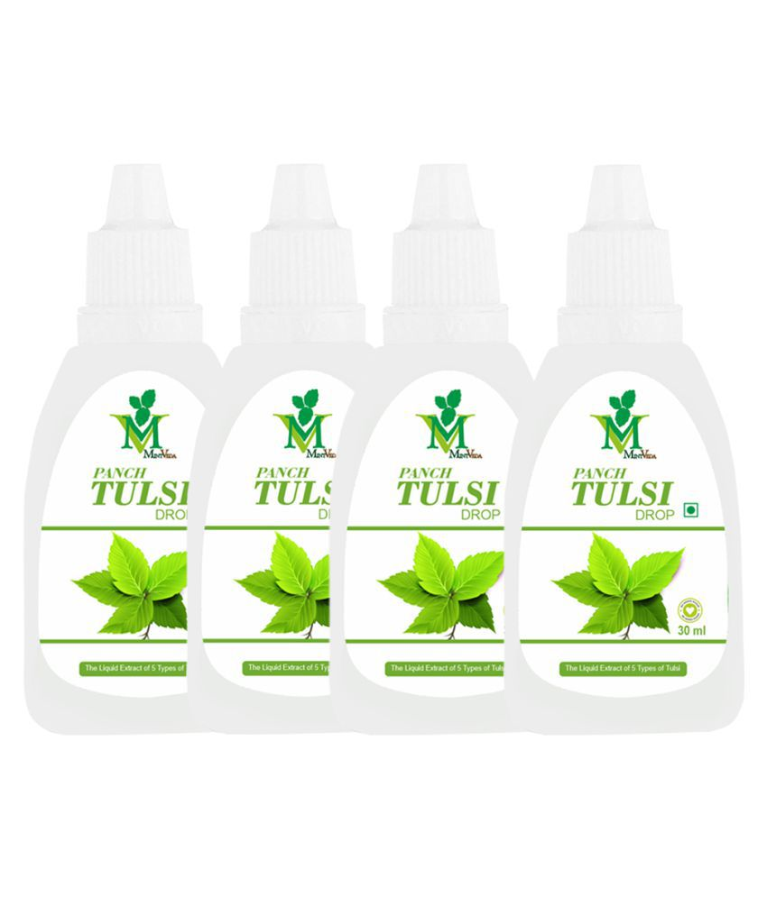 Mint Veda Panch Tulsi Drop 120 ml Pack of 4