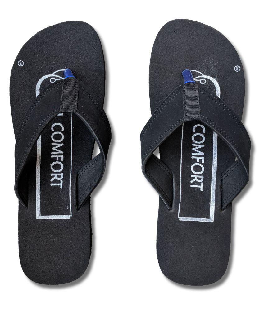 Riasa Fashions Black Slippers