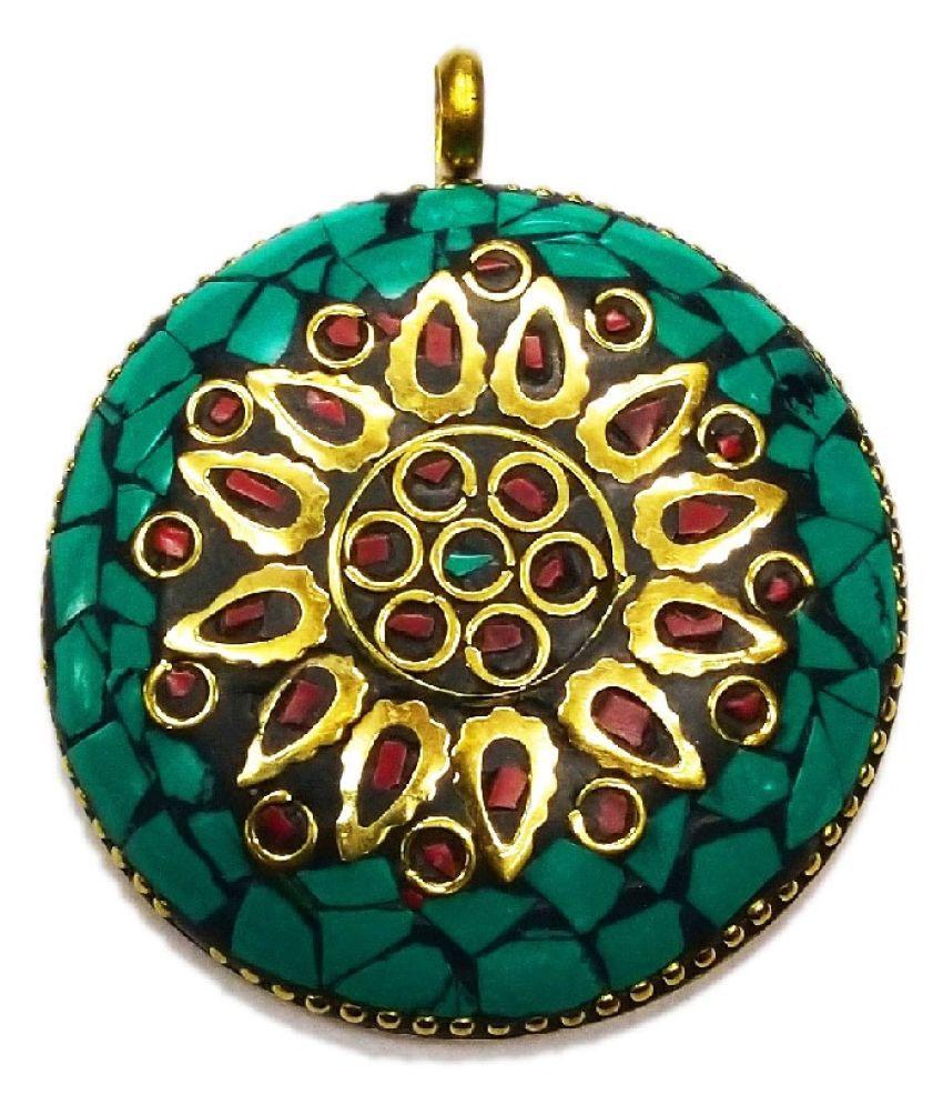 Vinayak Red Indian Pendant mop Round design