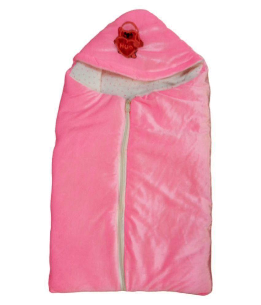 ARAN Creations Gold Fleece Baby Wrap cum blanket ( 38 cm × 66 cm - 1 pcs)