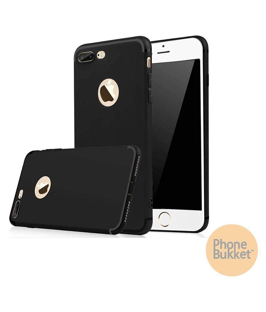 PhoneBukket Soft TPU Black Back Case for Apple iPhone 8 Plus