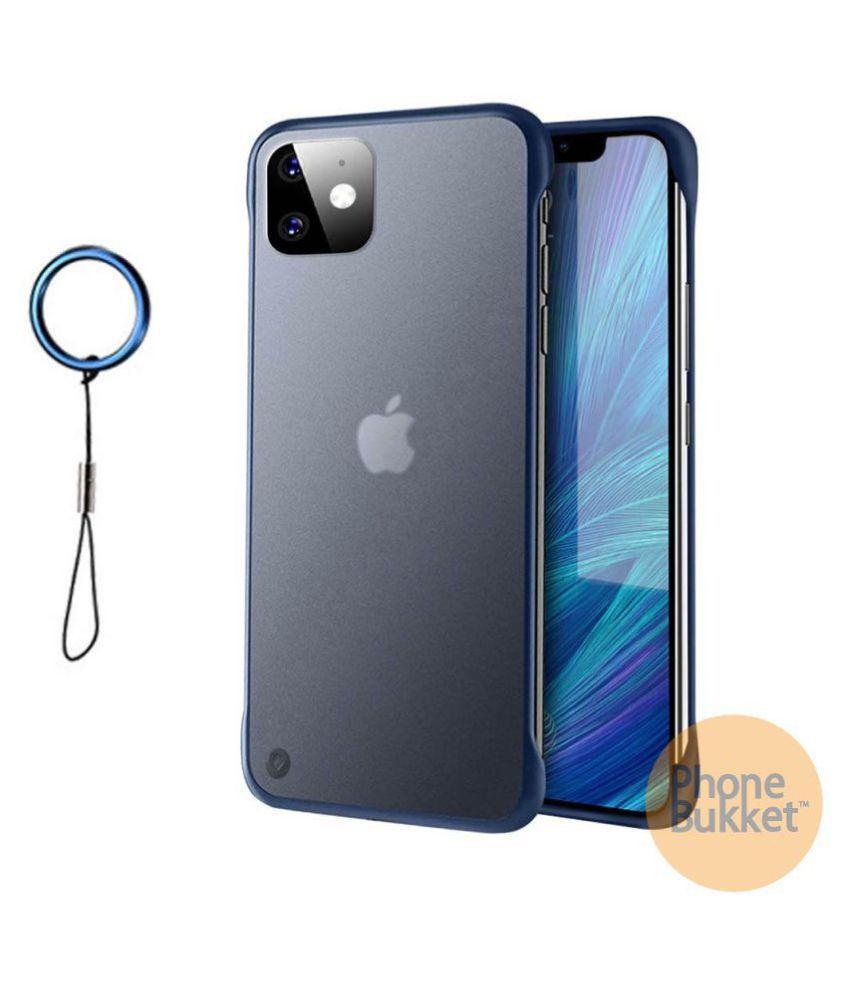 PhoneBukket UltraSlim Frameless Transparent TPU Hybrid Case for Apple iPhone 11 (Blue)
