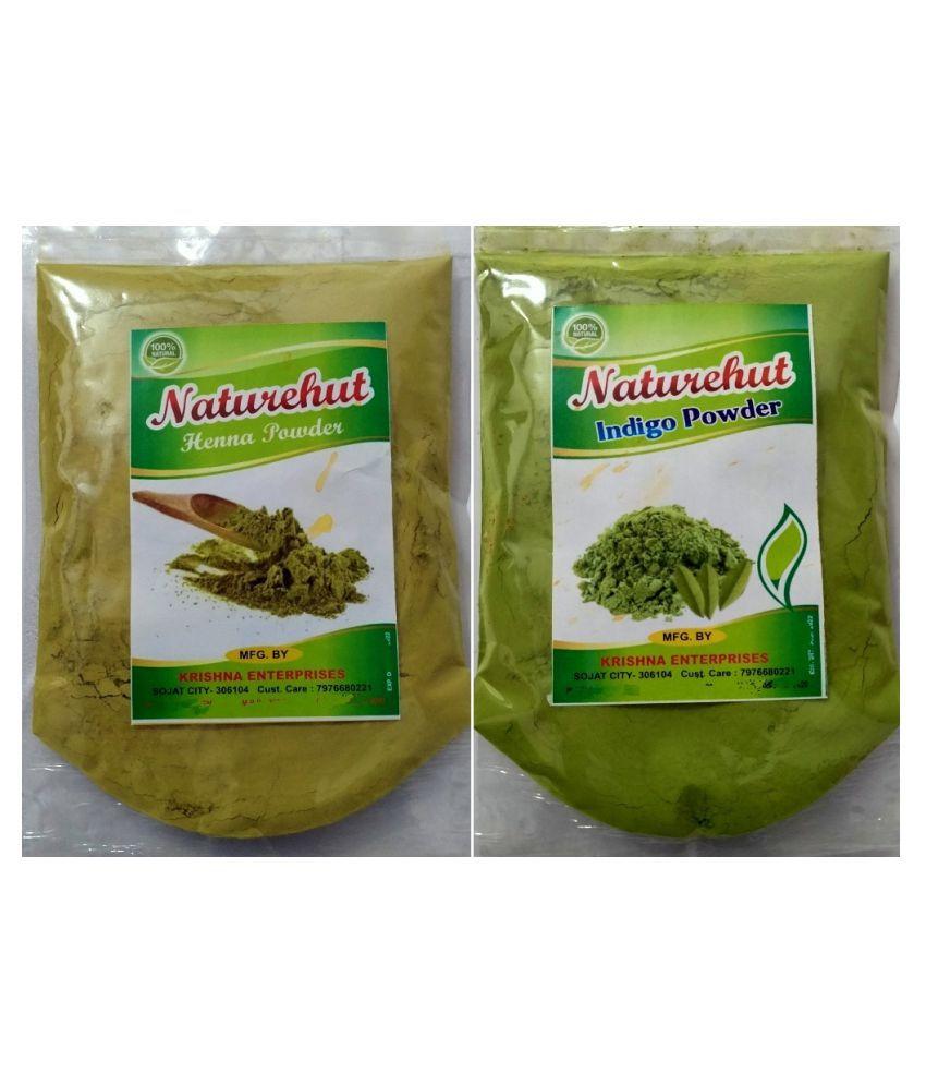 100% Organic Indigo Powder and Bio Henna Powder, Combo Pack (200 Gm)