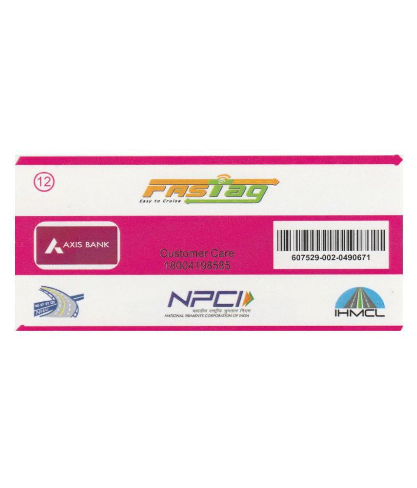 CSC FASTag Others In Car Sticker Pink