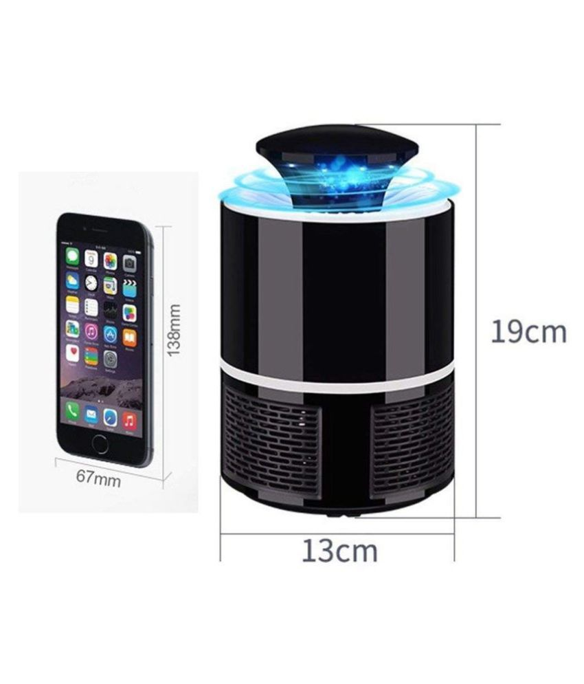 Classic Network Electric  360 Degree Usb Mosquito Killer Lamp Chemical Free For Home Kitchen Bedroom (Black )