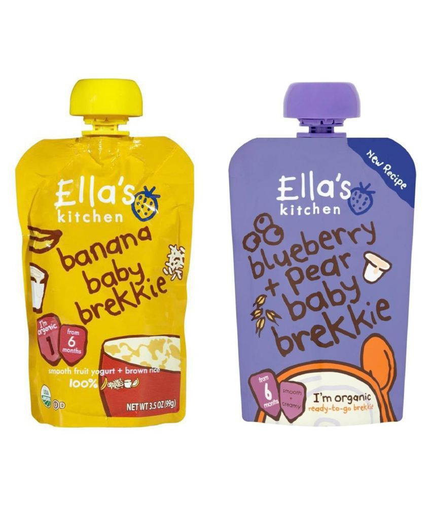 Ella's Kitchen Banana Brekkie Snack Foods for 6 Months + ( 240 gm ) Pack of 2