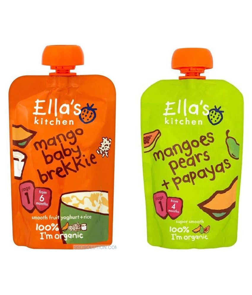 Ella's Kitchen Mangoe Baby Brekkie Snack Foods for 6 Months + ( 240 gm ) Pack of 2