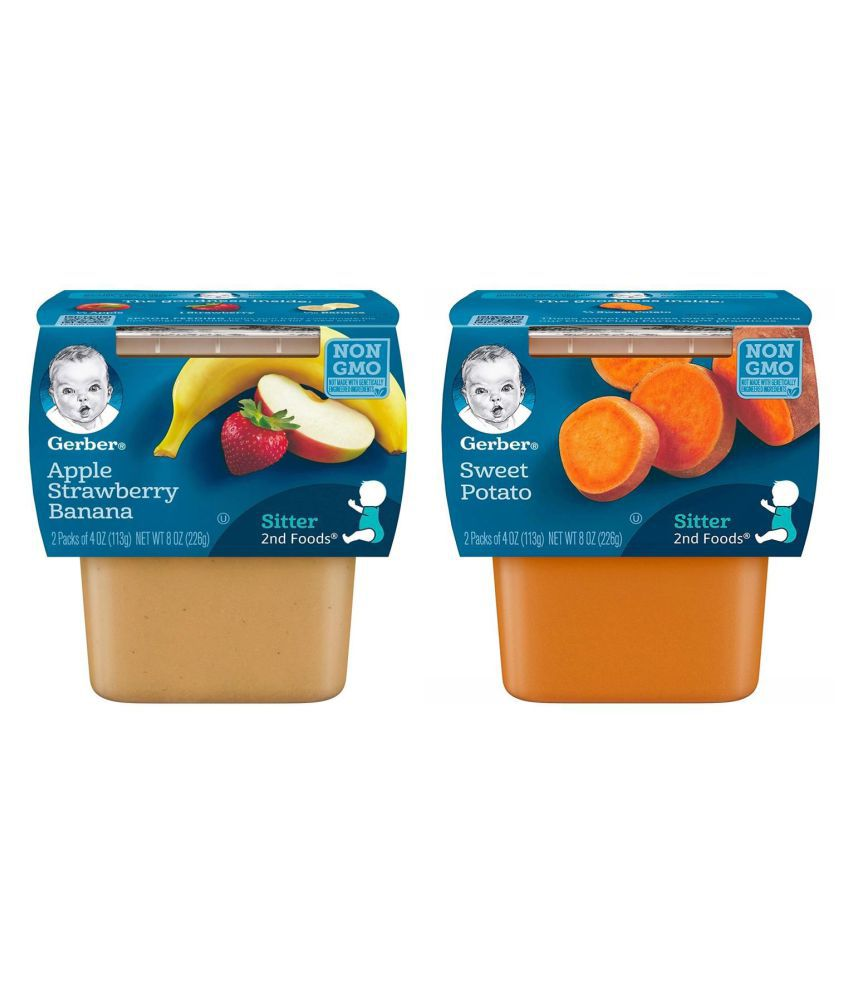 Gerber Apple Strawberry Snack Foods for 6 Months + ( 452 gm ) Pack of 2