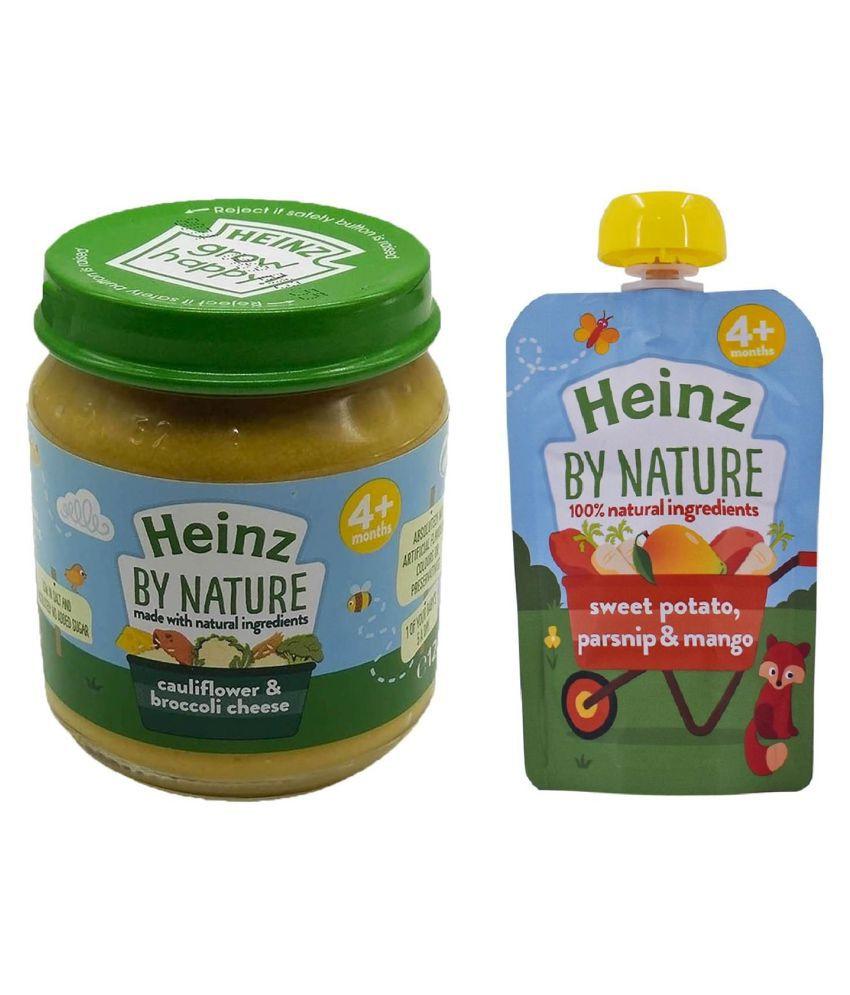 Heinz Cauliflower Broccoli Snack Foods for 6 Months + ( 200 gm ) Pack of 2