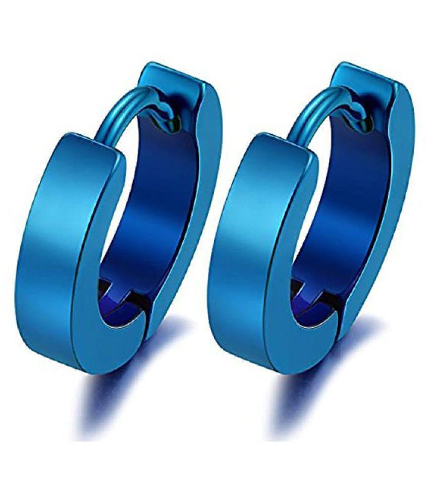 Mens Jewellery Blue Bali Stud Mens Earing / Ear rings Combo For Men / Gents / Boys / Boyfriend Stainless Steel Plug Earring