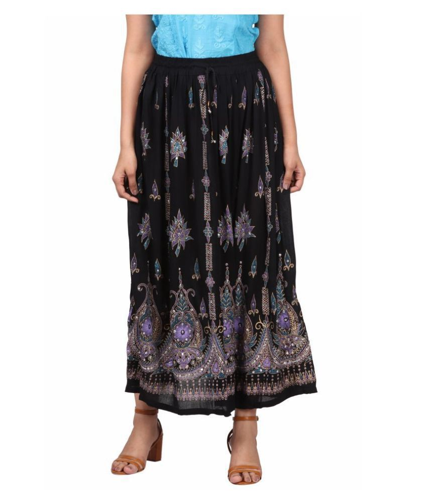 Fit 'N' You Cotton A-Line Skirt - Black