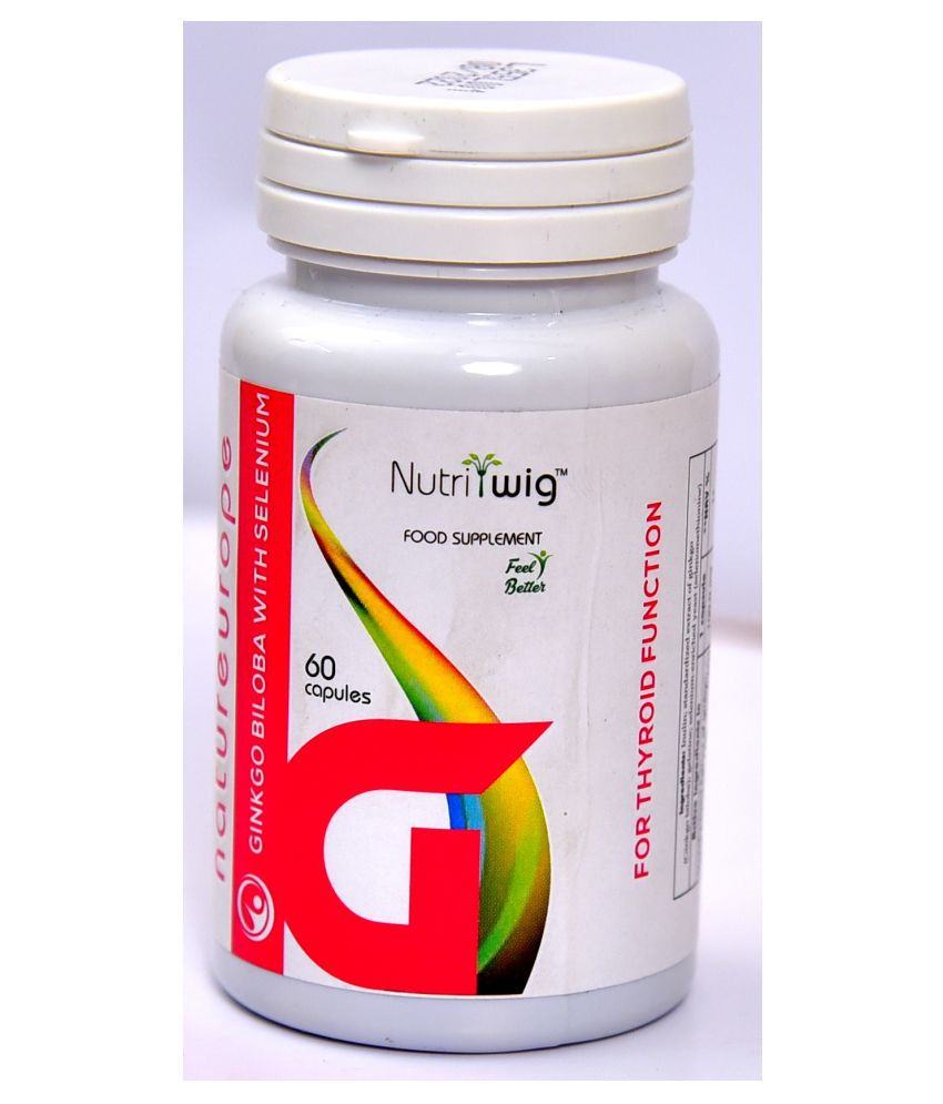 Nutritwig Ginkgo Biloba with Selenium Capsule 60 no.s