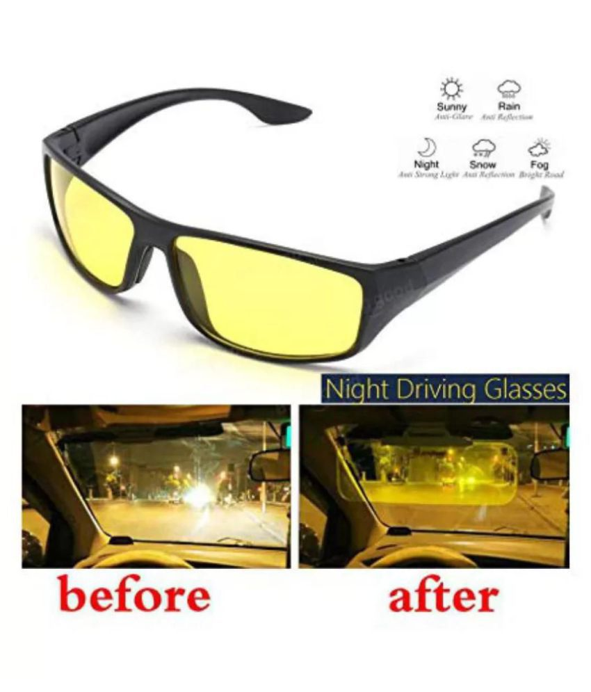 SNR Night Vision Super Clear Glasses Goggles For Bicycle Perfect Night Driving For Bicycle